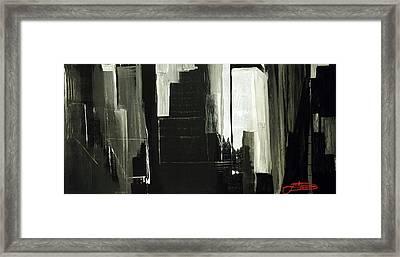 New York City Reflection Framed Print