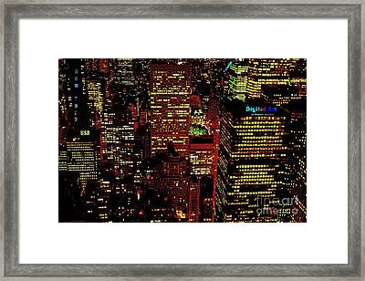 New York City Framed Print by Rogerio Mariani