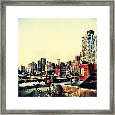 New York City Rooftops Framed Print by Vivienne Gucwa