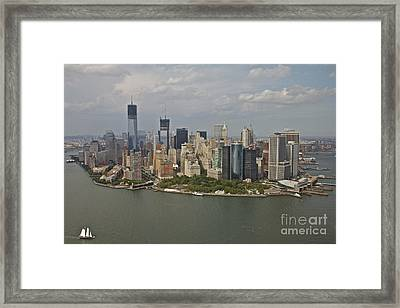 New York City Sky Line Framed Print by Linda Asparro