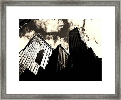 New York City Skyscrapers Framed Print