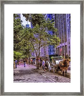 New York City - Street Scene 1 Framed Print by Madeline Ellis