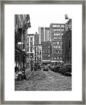 New York City Street Scene Framed Print by Scott Massey