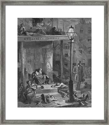 New York City Tenement Dwellers Framed Print by Everett
