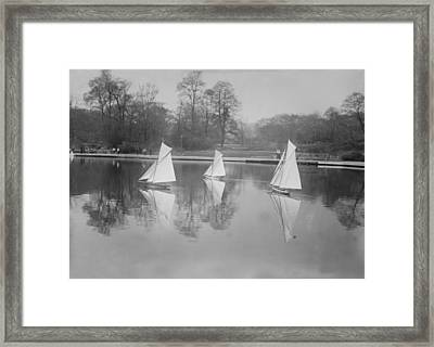 New York City, Toy Yacht Race Framed Print by Everett