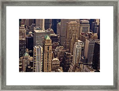 New York City Urban Landscape Framed Print by Vivienne Gucwa