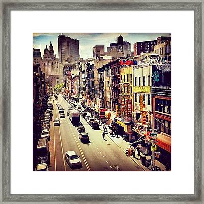 New York City's Chinatown Framed Print by Vivienne Gucwa