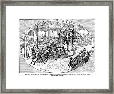 New York: Coaching, 1876 Framed Print by Granger