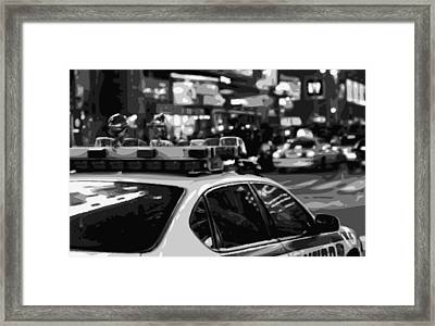 New York Cop Car Bw8 Framed Print by Scott Kelley