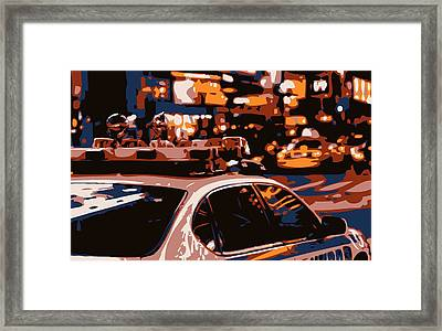 New York Cop Car Color 6 Framed Print by Scott Kelley