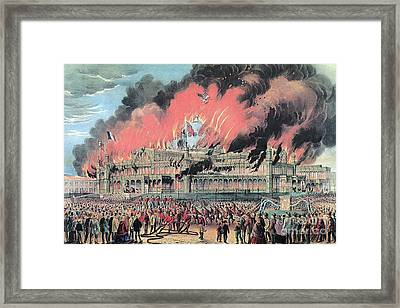 New York Crystal Palace Fire, 1858 Framed Print