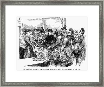 New York: Dry Goods, 1889 Framed Print