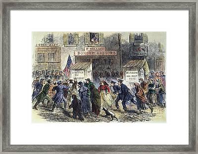 New York: Election, 1864 Framed Print by Granger