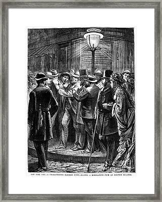 New York: Election, 1876 Framed Print