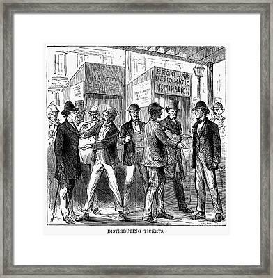 New York: Election Of 1870 Framed Print by Granger