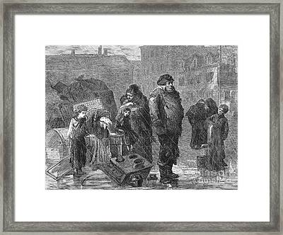 New York: Eviction, 1872 Framed Print by Granger