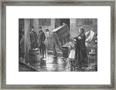 New York: Eviction, 1890 Framed Print by Granger