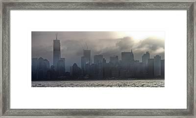 New York Fog Framed Print by Farol Tomson