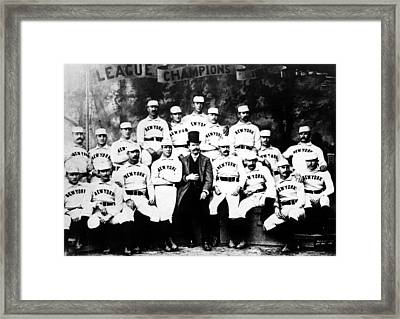 New York Giants, Baseball Team, 1889 Framed Print