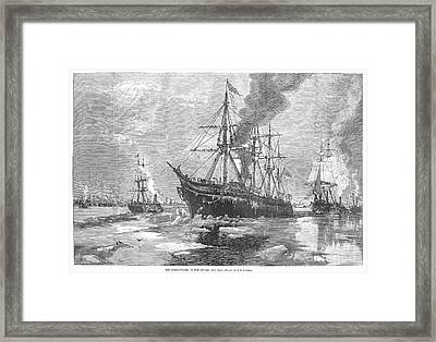 New York Harbor: Ice, 1881 Framed Print by Granger