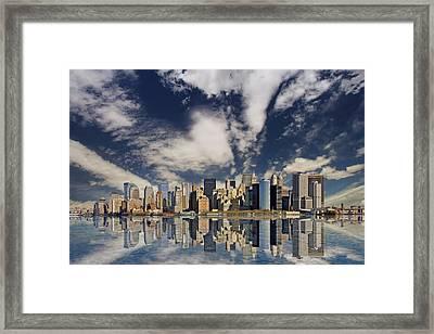 New York Framed Print by Marcel Schauer