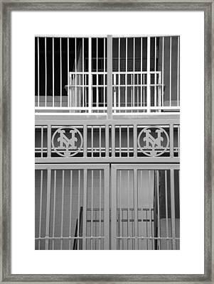 New York Mets Jail Framed Print by Rob Hans