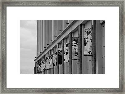 New York Mets Of Old  In Black And White Framed Print by Rob Hans