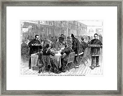 New York: New Years Party Framed Print by Granger