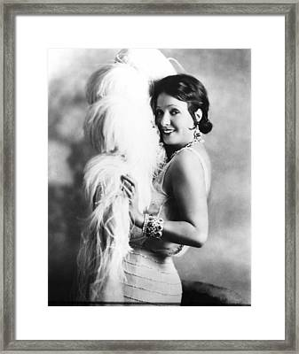 New York Nights, Norma Talmadge, 1929 Framed Print