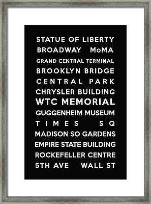 New York Framed Print by Georgia Fowler