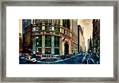 New York Nypd Framed Print by Radu Aldea