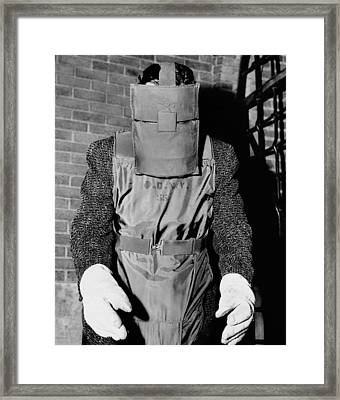 New York Police Bomb Squad Working Framed Print by Everett