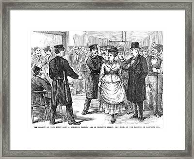 New York Police Raid, 1875 Framed Print by Granger