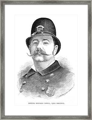 New York Policeman, 1885 Framed Print by Granger