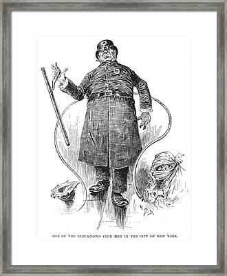 New York Policeman, 1890 Framed Print by Granger