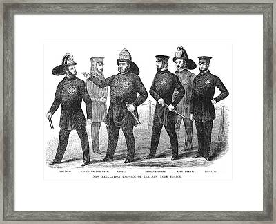 New York Policemen, 1854 Framed Print by Granger