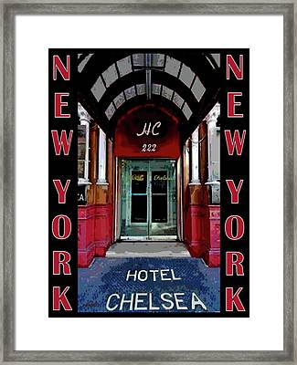 Framed Print featuring the painting New York Poster by Jann Paxton