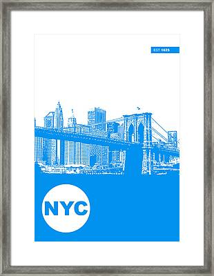 New York Poster Framed Print by Naxart Studio