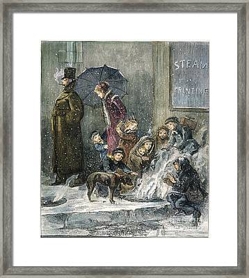 New York: Poverty, 1876 Framed Print by Granger