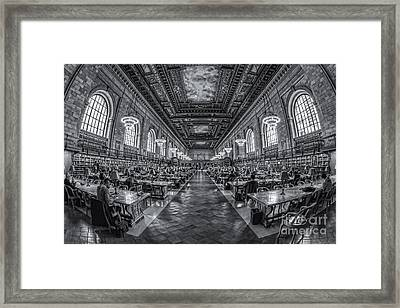 New York Public Library Main Reading Room Iv Framed Print by Clarence Holmes