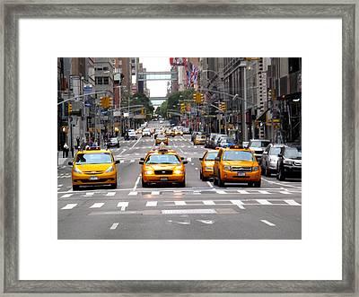 New York Ride Framed Print by Anthony Chia-bradley