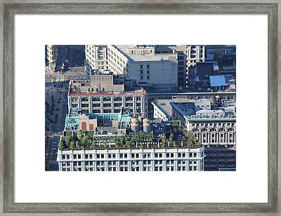 Framed Print featuring the photograph New York Roof Garden by David Grant