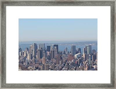 Framed Print featuring the photograph New York Skyline by David Grant