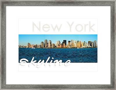 New York Skyline Framed Print by Syed Aqueel