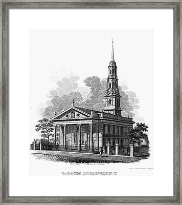 New York: St Pauls Church Framed Print by Granger