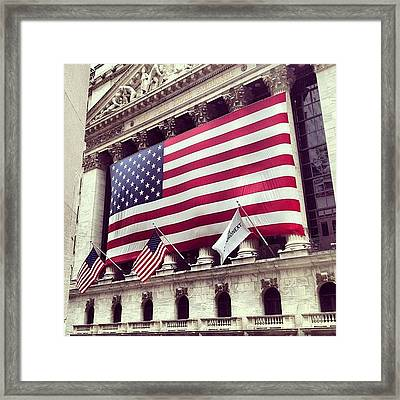 New York Stock Exchange/wall Street Framed Print