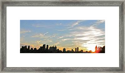 New York Sunset 2 Framed Print by Randi Shenkman