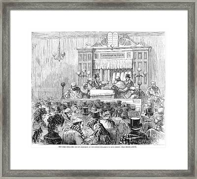 New York Synagogue, 1871 Framed Print by Granger