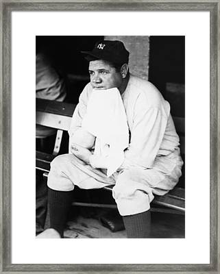 New York Yankees. Outfielder Babe Ruth Framed Print by Everett