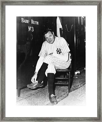 New York Yankees. Retired Outfielder Framed Print